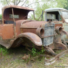 "Thumbnail image for Old Ford and Chevrolet pickups from the '20s, '30s and '40s at ""Desarmadero El Nene"" (junkyard The Child) in Argentina"
