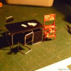 Thumbnail image for Old Gas Station Diorama – #5 & #6 – Vintage furniture and Oil Rack – Styrene scratch building [blueprints + video]