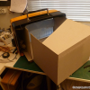 Thumbnail image for Grundig 3D TV – Scale model display case – Step 2: Display interior and screen