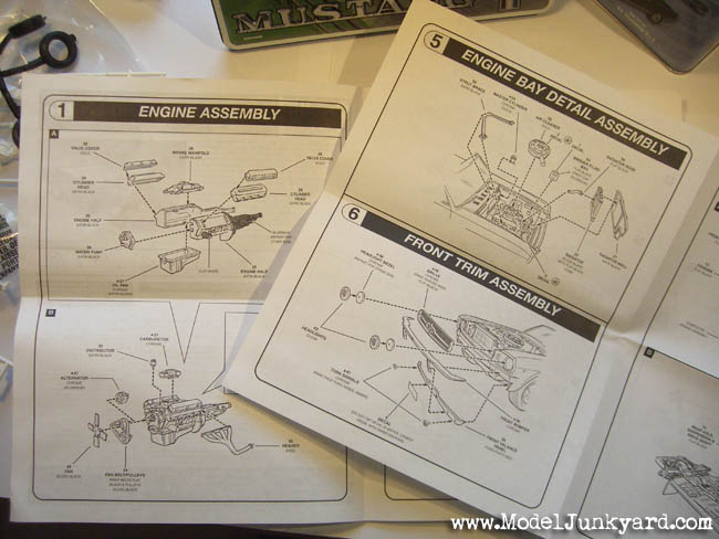 65 Mustang Convertible Revell Monogram Instructions