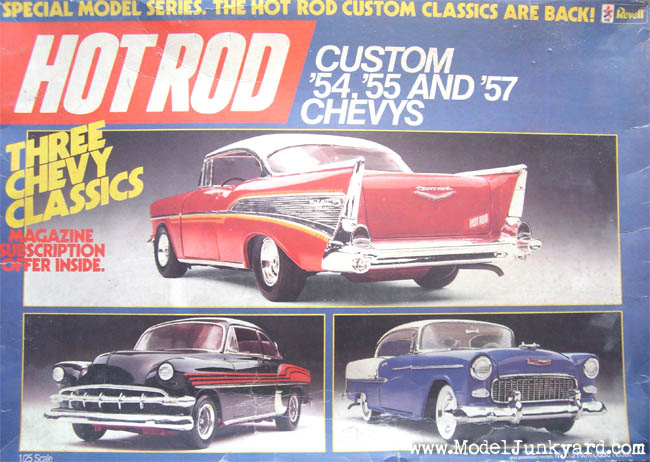 Post image for Collector's Kit: 54, 55 and 57 Chevy Revell HOTROD Series