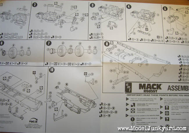 Mack R685ST AMT Instructions