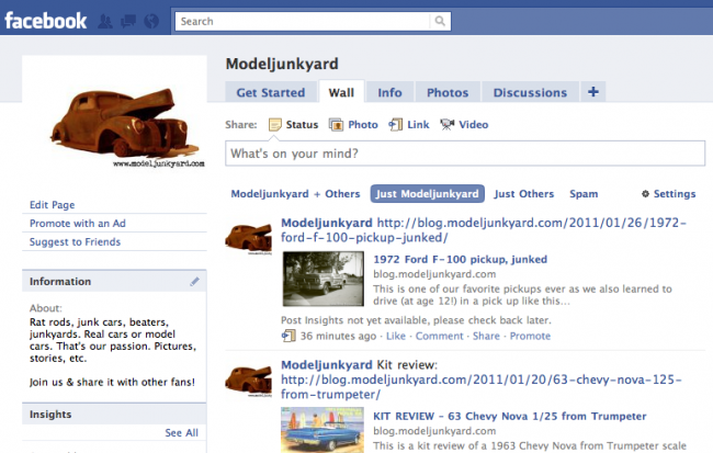 Post image for The ModelJunkyard-Page on Facebook