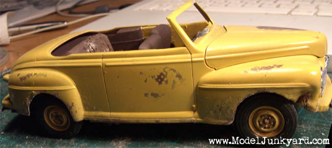 49 Ford Convertible Junkyer Unfinished Body