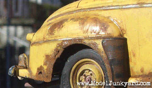 49 Ford Convertible Junkyer Rear Fender Rust