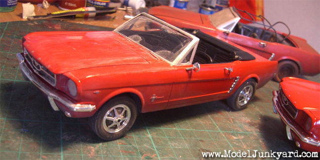 Triplet Mustang Project - used Mustang (mild weathered)