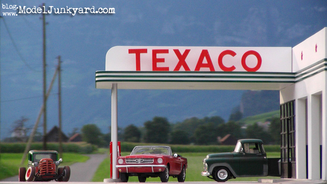 Texaco Gas Station photo shooting