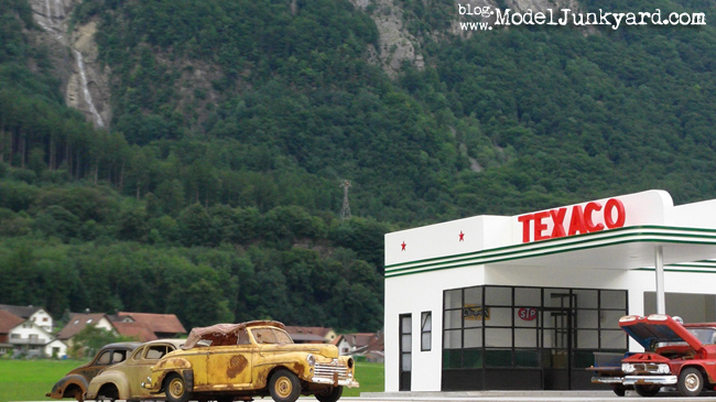Post image for Texaco Gas Station photo shooting in Switzerland [3rd location]
