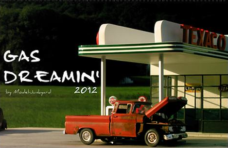 Post image for 2012 Calendars – Featuring Gas Station, Old Barn and Junk Model Cars
