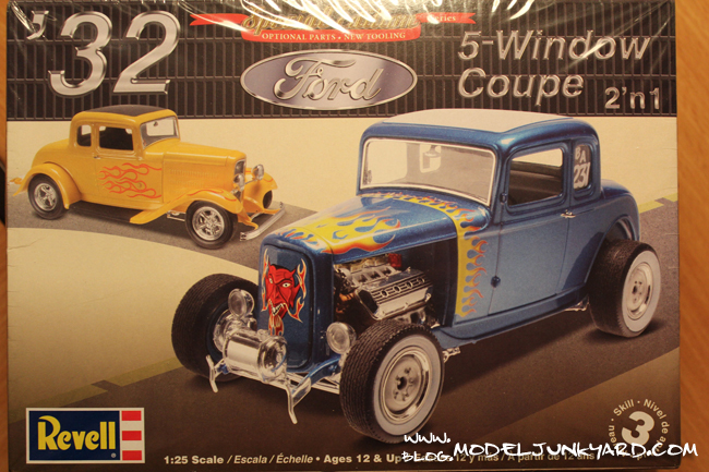Post image for KIT REVIEW – 32 Ford 5-Window Coupe by Revell