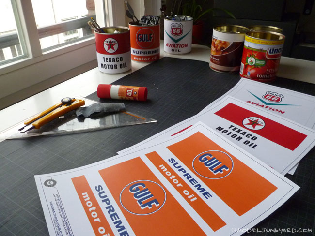 Recycling Soup Cans For Vintage Oil Can Replicas How To Oil Can