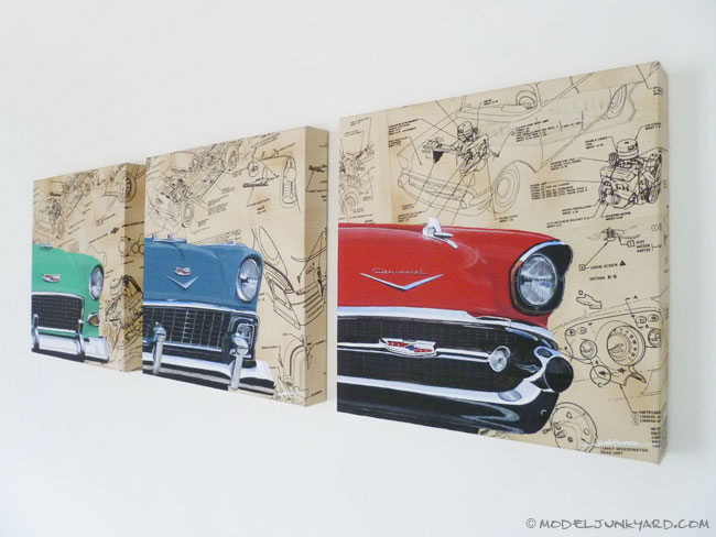 Post image for 55, 56 & 57 Chevy Bel Air automotive paintings