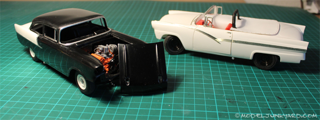 Post image for 57 Chevy Black Widow and 56 Ford Sunliner Fireball Roberts