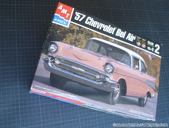 Post image for KIT REVIEW – 1/25 57 Chevy Bel Air Coupe by AMT