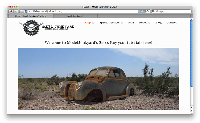 Post image for ModelJunkyard's new shop is online!